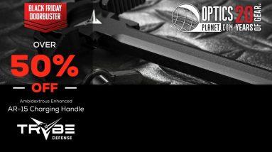 Black Friday Doorbuster TRYBE Defense Ambidextrous Enhanced AR-15 Charing Handle - OpticsPlanet.com