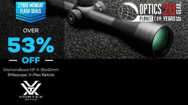 Cyber Monday Flash Deal Vortex Diamondback HP 4-16x42mm Riflescope V-Plex Reticle - OpticsPlanet.com