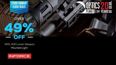 Cyber Monday Flash Deal InForce WML 400 Lumen Weapon Mounted Light - OpticsPlanet.com