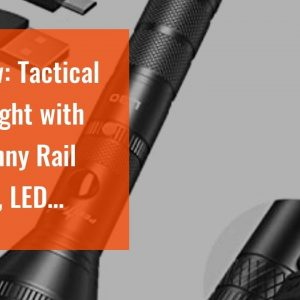 Review: Tactical Flashlight with Picatinny Rail Mount, LED Weapon Light 800 Lumen Waterproof Ta...