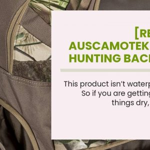 Honest review: Auscamotek Camo Hunting Backpack and Fanny Pack Waterproof