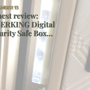 Top rated: TIGERKING Digital Security Safe Box for Home Office Double Safety Key Lock and Passw...