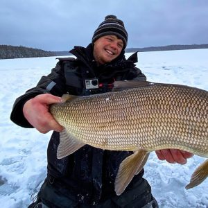 Jigging For GIANT Northwoods Whitefish | Ice Fishing 2021