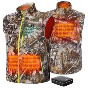 TIDEWE Men's Heated Vest with Battery Pack, Lightweight Vest for Hunting/Hiking