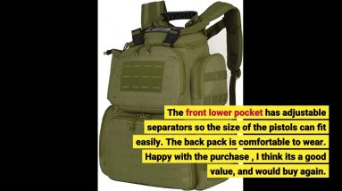 User Review: TIDEWE Tactical Range Backpack Bag for Gun and Ammo with Pistol Case