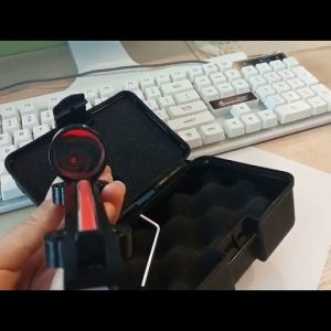 1x28 Red Dot Fiber Shotgun Sight unboxing