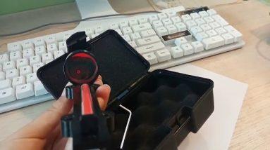 1x28 Red Dot Fiber Shotgun Sight unboxing