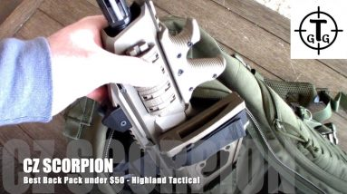 Best Tactical Backpack  for CZ SCORPION, under $50 - Highland Tactical Roger