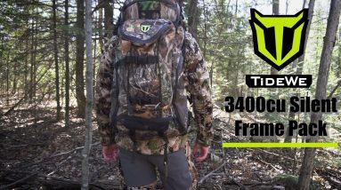 TideWe 3400cu Silent Frame Backpack | Hunting Backpack