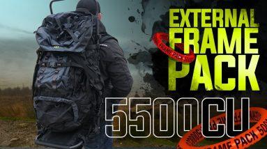 TideWe 5500cu External Frame Backpack | Hiking/Hunting Backpack