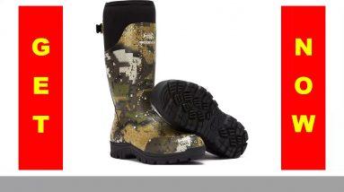 "✓ Bassdash Explorer Desolve Veil Camo Men's Waterproof Hunting Boots 16"" Rubber Boots with 5mm"