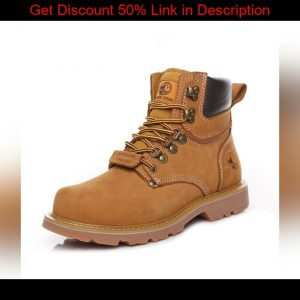 ⭐️ Outdoor Men Hiking Shoes Waterproof Breathable Tactical Leather Hunting Boots Desert Training Sn