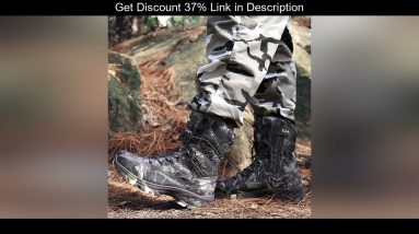 ✔️ High Top Classic Waterproof Military Tactical Boots Man Outdoor Camouflage Hunting Boots Breatha