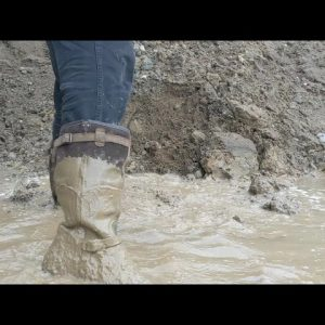 New Leather Hunting Boots in Deep Mud