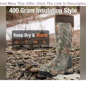 Deal Product HISEA Apollo Pro 400G Insulated Men's Hunting Boots Waterproof Rubber Muck Mud Boots