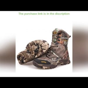 ⚡47 Large Size Bionic Camo Waterproof Thermal Snow Boots Winter Outdoor Hunting Climbing Hiking Spo
