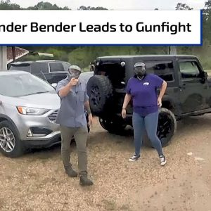 Parking Lot Fender Bender Leads to Gunfight | First Person Defender