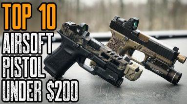 Top 10 Best Airsoft Pistols Under 200 Dollars on Amazon