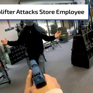 Shoplifter Attacks Store Employee | First Person Defender